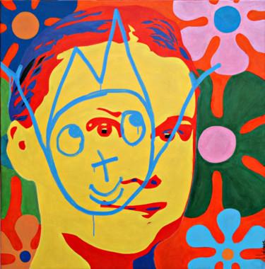 Peinture Portrait, acrylique, pop art, œuvre d'art par Hervé Loiseau